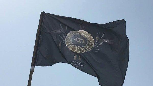 Флаг крымскотатарского батальона имени Номана Челебиджихана
