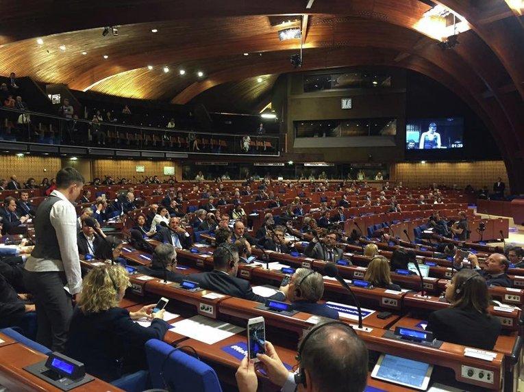Выступление Савченко на заседании ПАСЕ