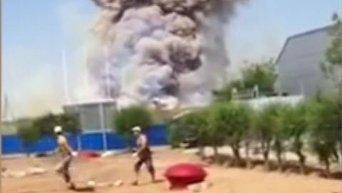 Пожар на военном полигоне в РФ