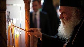 Архиепископ Афинский Иероним в ходе Всеправославного собора на Крите
