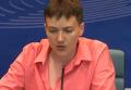 Пресс-конференция Савченко в Страсбурге. Видео