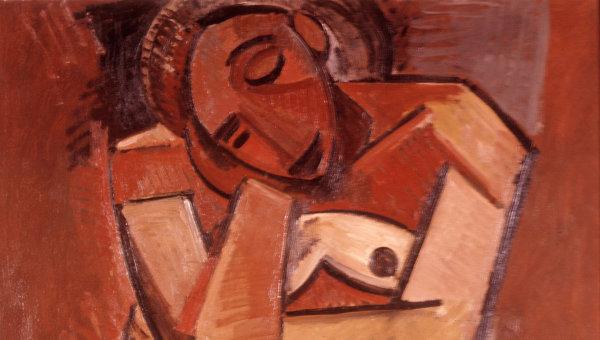 Репродукция картины Пабло Пикассо Сидящая женщина