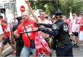 Столкновения украинских и польских футбольных болельщиков