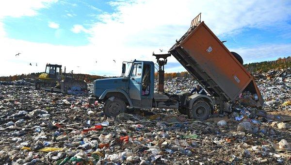Сортировка и утилизация бытовых отходов. Архивное фото