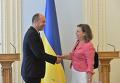 Андрей Парубий и Виктория Нуланд в Киеве