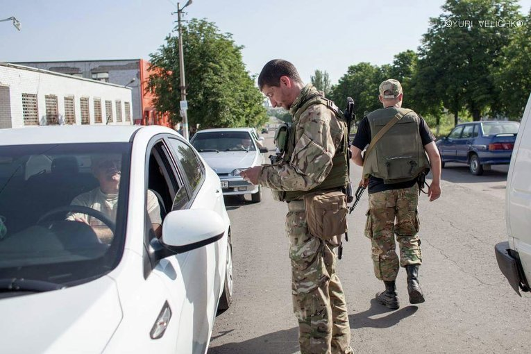 Бойцы батальона Донбасс в Марьинке