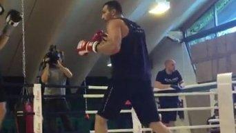 Владимир Кличко провел тренировку перед боем с Фьюри