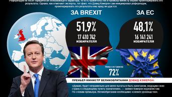 Итоги референдума в Великобритании. Инфографика