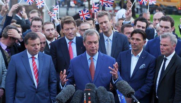 Найджел Фарадж, лидер Партии независимости Соединенного Королевства
