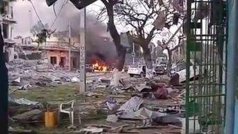 Нападение смертников на отель в Сомали. Видео