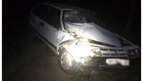 ВоЛьвовской области фургон врезался в«Приус» патрульных, оформлявших ДТП