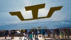 День крымскотатарского флага в центре Киева