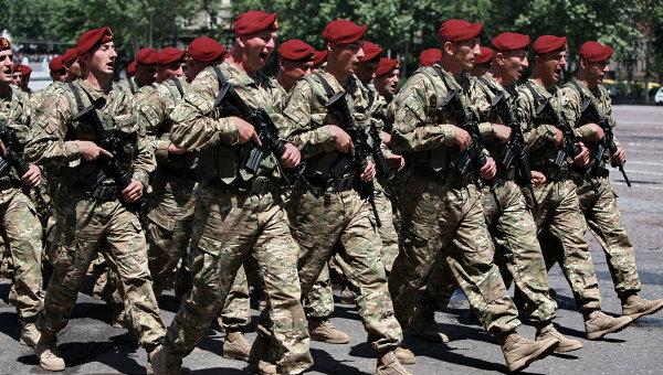 Военнослужащие грузинской армии. Архивное фото