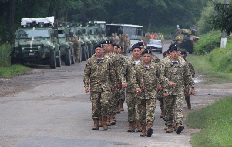 Украинско-американские военные учения Rapid Trident-2016 на Яворовском полигоне