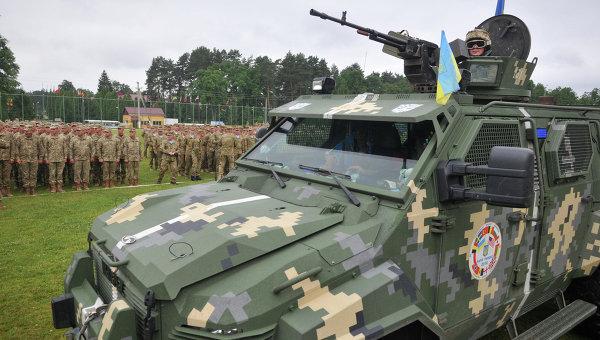 Международные военные учения Rapid trident-2016 во Львовской области. Архивное фото