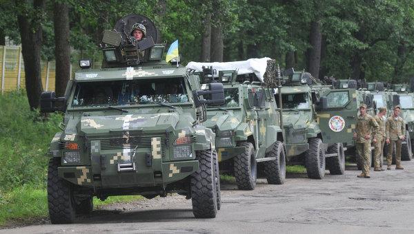 ВУкраинском государстве  стартовали масштабные учения ВСУ
