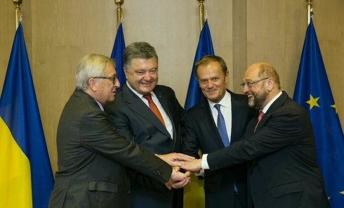 Петр Порошенко на саммите ЕС в Брюсселе