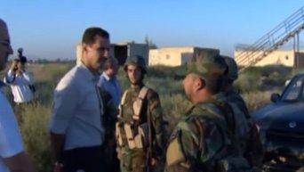 Сирийского президента Башара Асада заметили на передовой. Видео