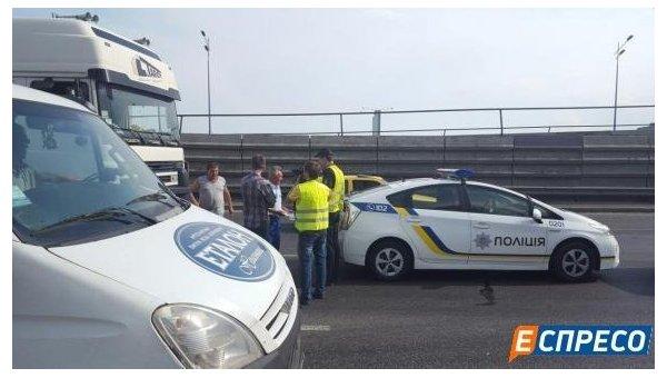 Александр Омельченко попал в ДТП в Киеве