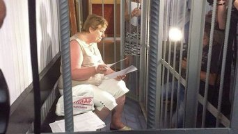 Алла Александровская в зале суда