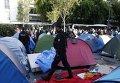 Эвакуация стихийного лагеря нелегальных мигрантов в Париже