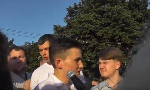 Савченко во Львове назвала глупостью призывы к наступлению в Донбассе. Видео