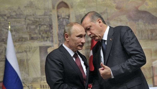 Владимир Путин и Тайип Эрдоган. Архивное фото