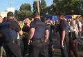 Массовый снос киосков в Киеве и столкновения с полицией. Видео