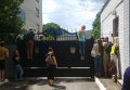 Ситуация у сборного пункта областного военкомата в Харькове