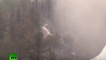 Ил-76, потерпевший крушение в Иркутской области. Видео