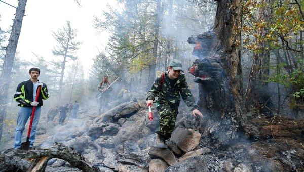 Тушение природных пожаров в Иркутской области
