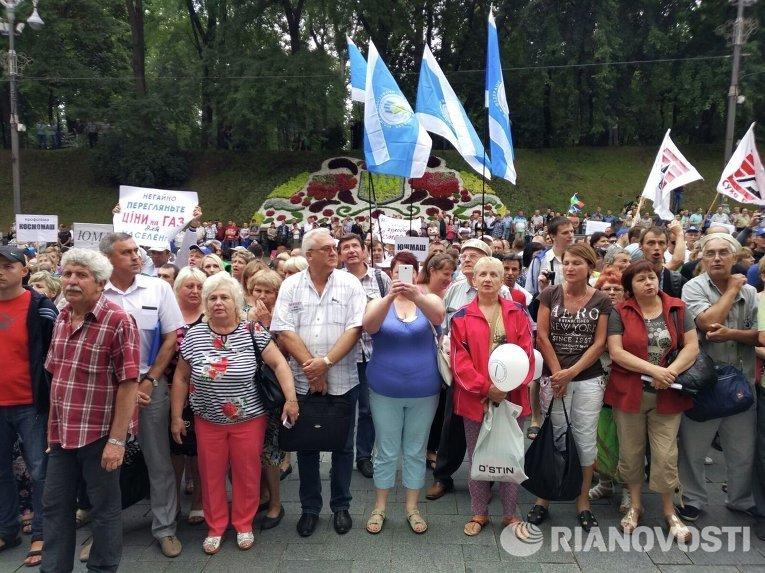 Всеукраинский марш протеста против тарифов на газ и коммуналку в Киеве