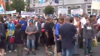 Акция протеста против тарифов ЖКХ в Киеве