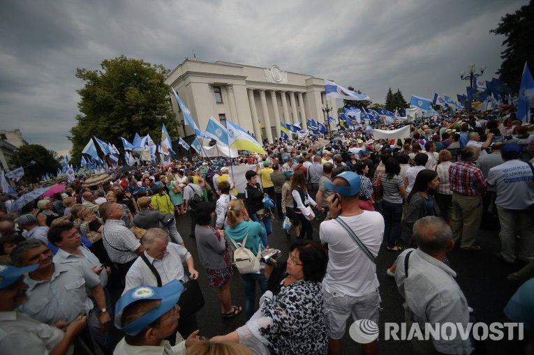 Митинг против повышения цен на услуги ЖКХ под зданием Рады
