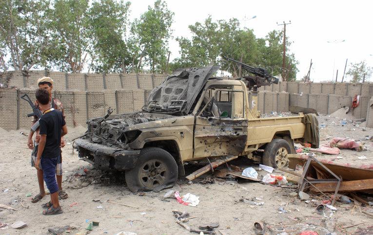 На месте теракта в Йемене
