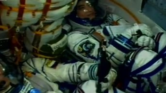 Экипаж МКС отправился к станции на корабле новой серии Союз МС. Видео