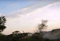 Пожар на мусорной свалке под Николаевом