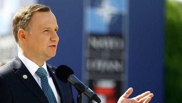 Анджей Дуда на саммите НАТО в Польше