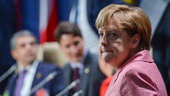 Федеральный канцлер Германии Ангела Меркель на саммите НАТО в Варшаве