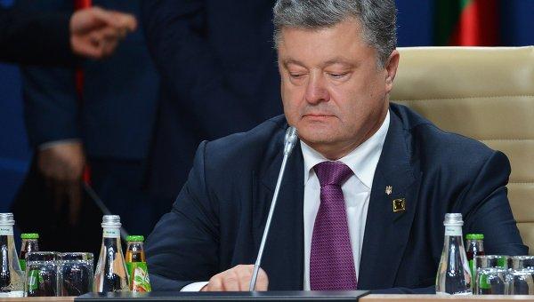 Президент Украины Петр Порошенко на саммите НАТО в Варшаве