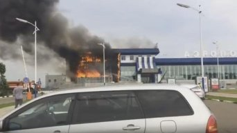 Пожар в аэропорту Благовещенска
