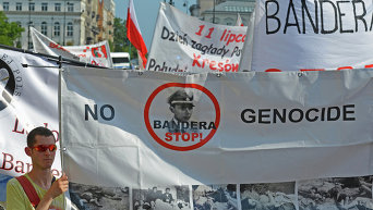 Акция Стоп Бандера в Варшаве. Архивное фото