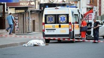 На месте убийства мужчины в Харькове