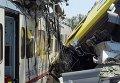 Столкновение двух поездов в Италии