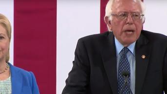 Берни Сандерс вышел из президентской гонки в США и поддержал Хиллари Клинтон