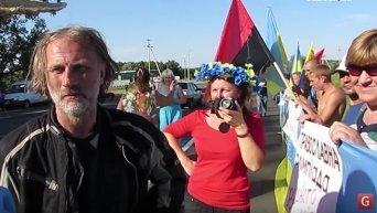 Протест националистов против Крестного хода в Харьковской области