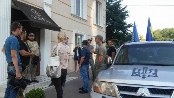 Блокирование делегации из Польши в Одессе