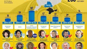 Довыборы в Верховную Раду. Инфографика