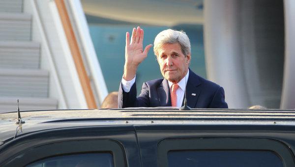Прилет государственного секретаря США Дж. Керри в Москву