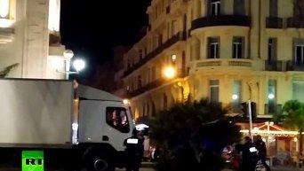 Видео ликвидации террориста, в результате атаки которого в Ницце погибли 84 человека. Видео